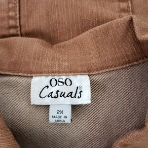 OSO Casuals Jackets & Coats - 🔵5/$50🔵 OSO Casuals Brown Denim Jacket Size 2X
